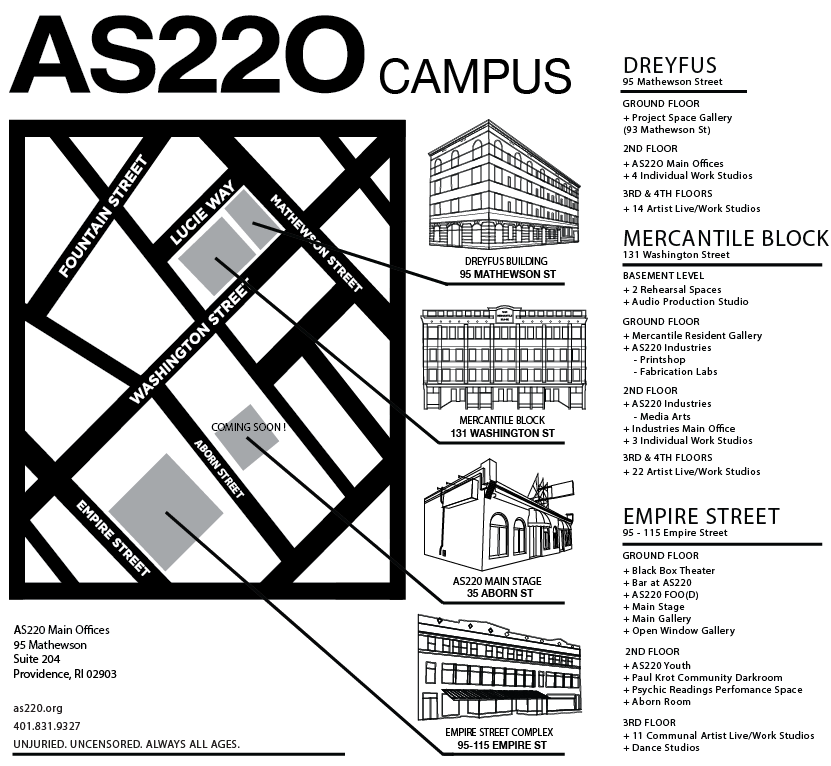 AS220 Campus Map Final with Programs