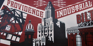 AS220's Free Culture Award 2010: Shepard Fairey's Providence Mural. Photo credit: Miguel Rosario