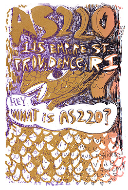 Hey, What is AS220? Print by Mickey Zacchilli