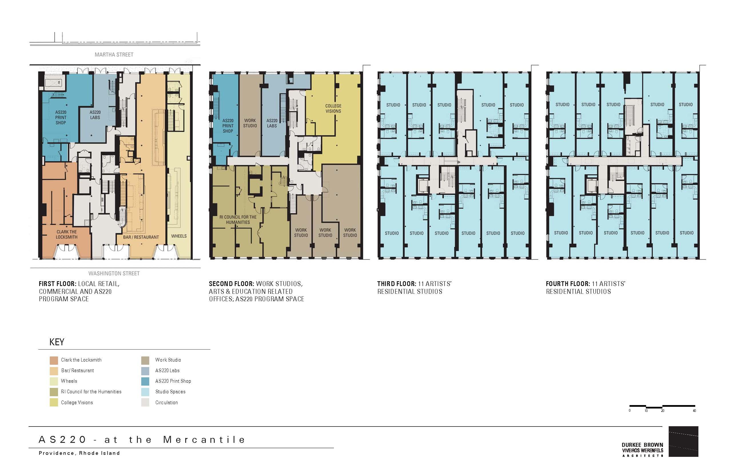 Mercantile block for Small commercial building plans