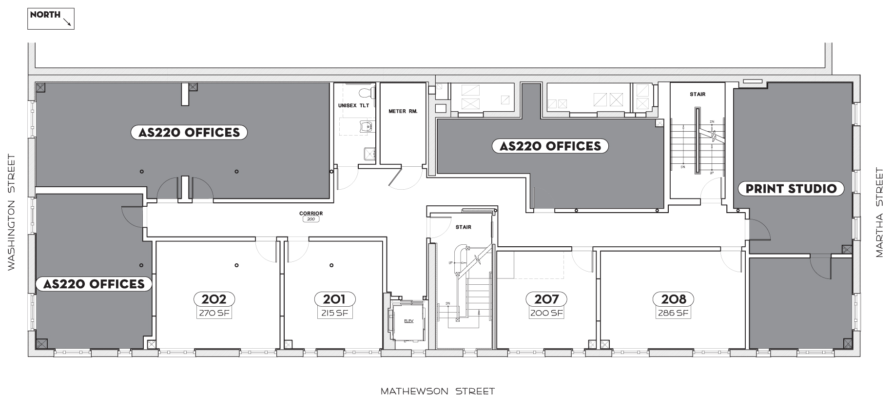 Dreyfus Building Floorplan Second Floor