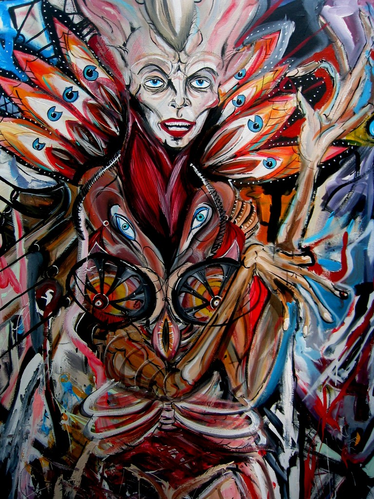 """Madam Butterfly"" painting by Ted DiLucia"