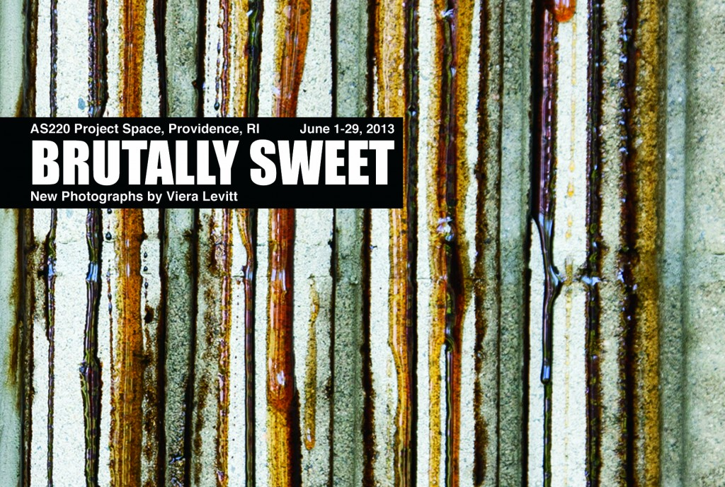 Brutally Sweet II, honey and molasses on brutalist architecture by Viera Leavitt.