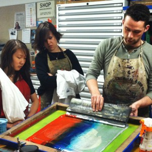 Intro to Silkscreen @ AS220 Printshop | Providence | Rhode Island | United States