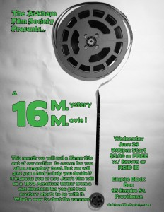 Arkham Film Society Presents: A 16mm Mystery @ 95 Empire Black Box | Providence | Rhode Island | United States