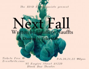 "RISD Exhibitionists Present ""Next Fall"" by  Geoffery Nauffts @ Blackbox 