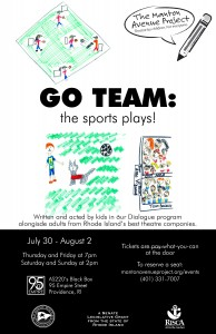 "Manton Avenue Project Presents ""Go Team!: The Sports Plays"" @ AS220's Blackbox"