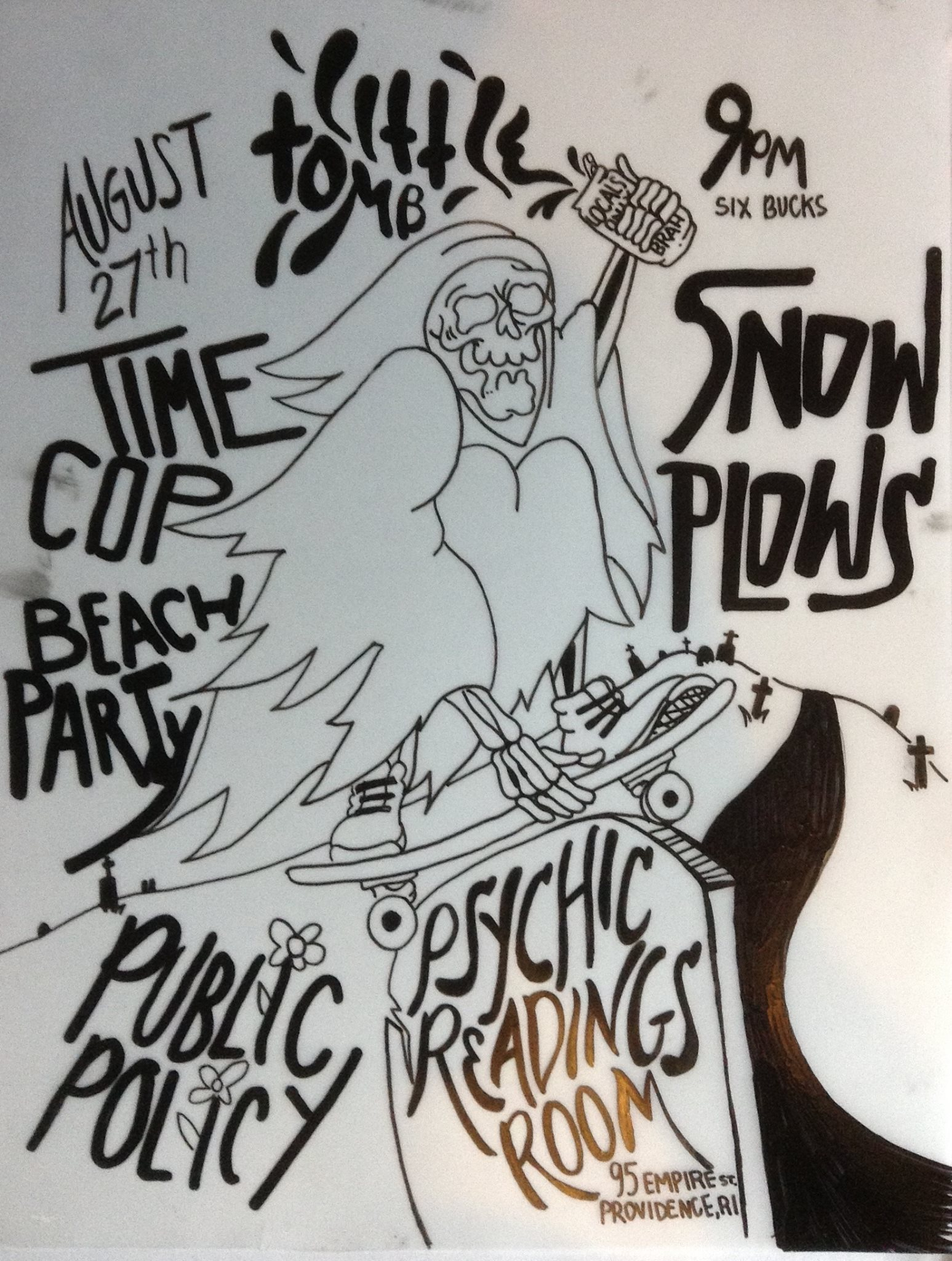 SNOWPLOWS//PUBLIC POLICY//TIMECOP BEACH PARTY//LITTLE TOMB @ Psychic Readings