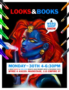 "AS220 Artist in Residence Diego Gomez WERKSHOP Show ""Looks and Books"" @ AS220 Mainstage"