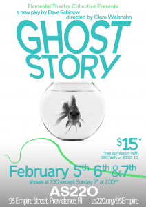 "Elemental Theatre Presents ""Ghost Story"" by Dave Rabinow @ AS220's Blackbox Theatre"