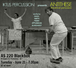 Antithese: Theatrical Percussion - Kagel, Burkhardt, Applebaum, S.S.Smith