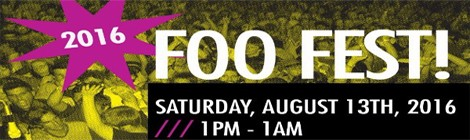 FOO FEST SET TIMES ANNOUNCED!