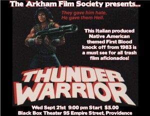 The Arkham Film Society presents: Thunder Warrior@ AS220 Black Box
