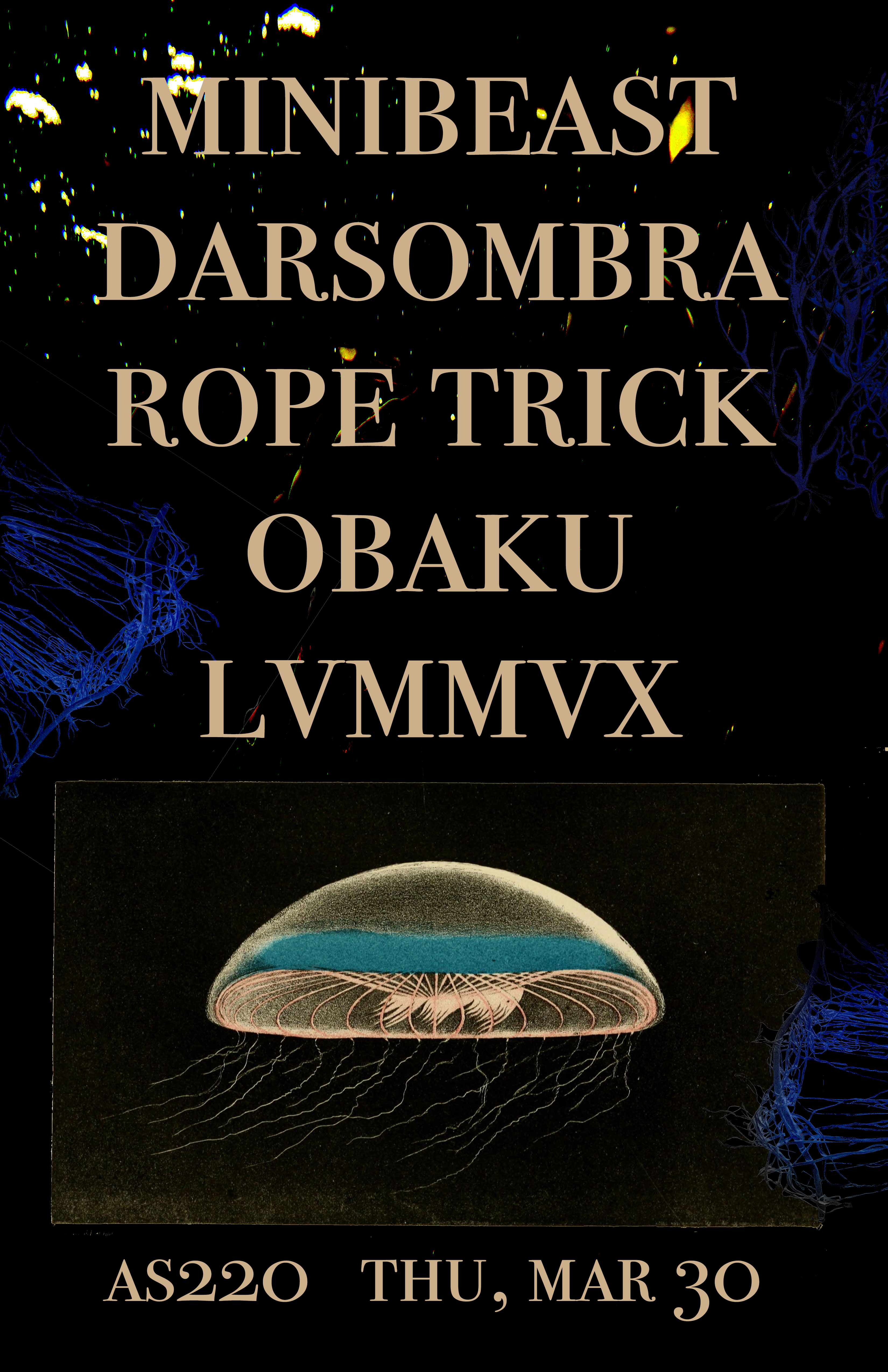 darsombra (MD), Rope Trick, California Smile, LVMMVX, and Obaku @ AS220 Main Stage | Providence | Rhode Island | United States