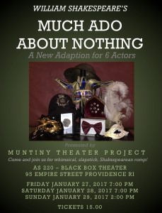 "The Mutiny Theatre Project Presents ""Much Ado About Nothing"" @ AS220's Blackbox  