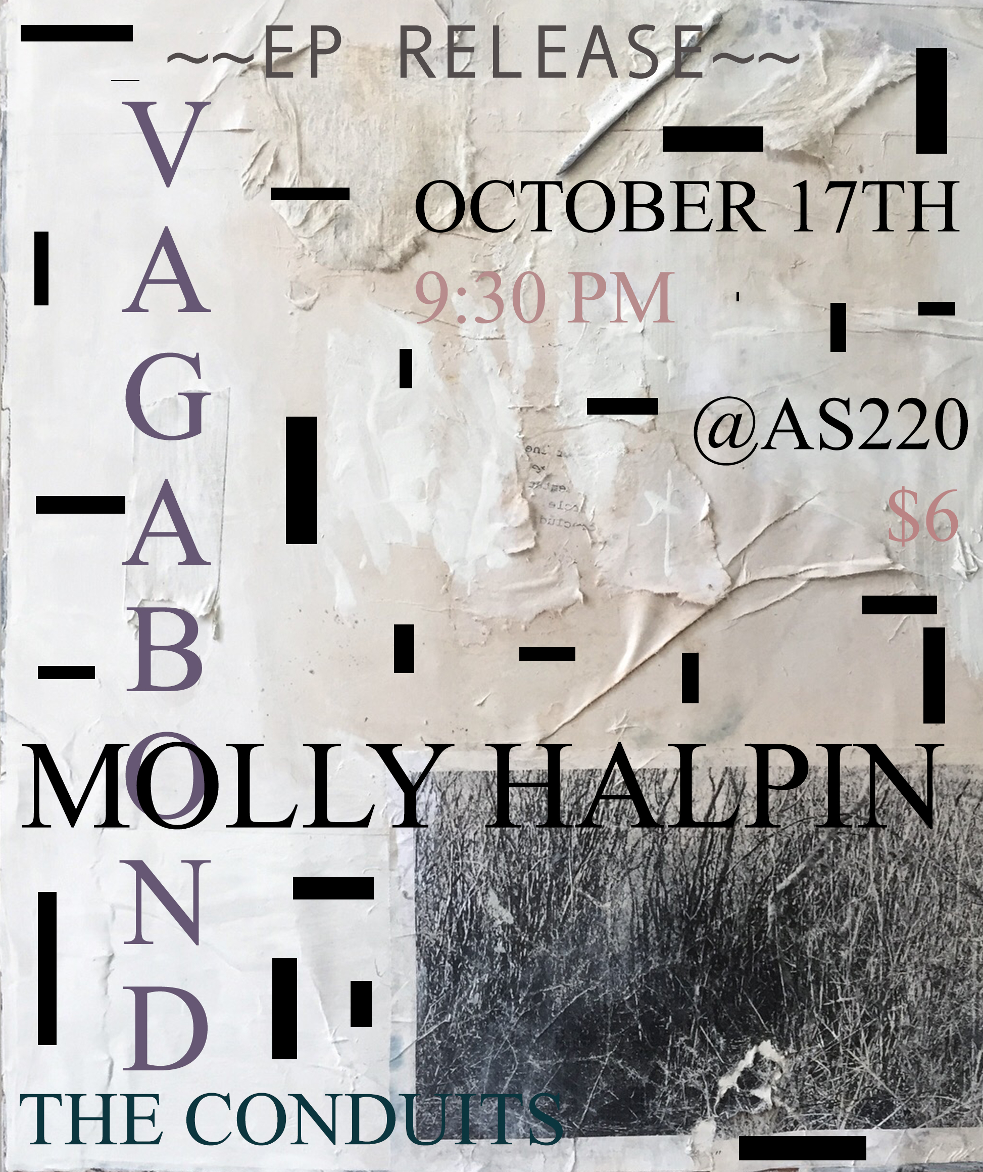 Vagabond, Molly Halpin (EP Release), and The Conduits @ AS220 Main Stage | Providence | Rhode Island | United States
