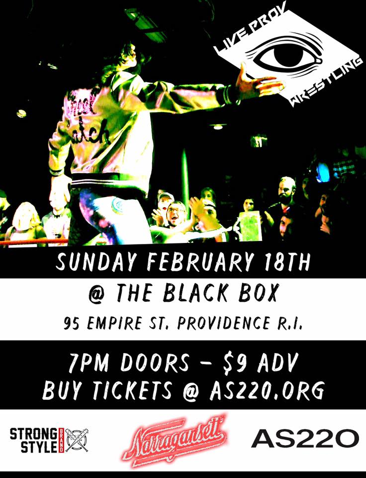 Live Pro(v) Wrestling @ AS220 Black Box | Providence | Rhode Island | United States