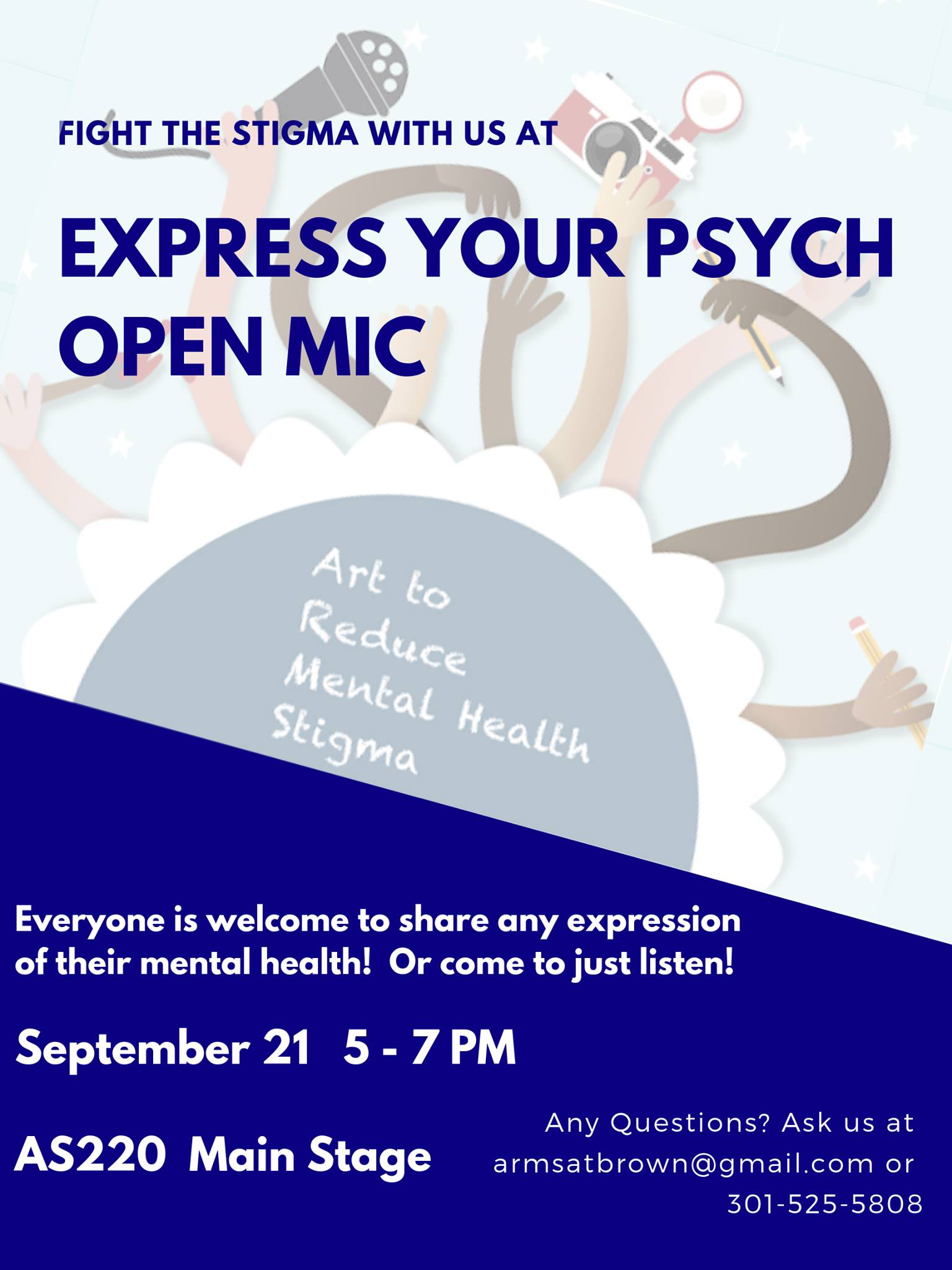 Express Your Psych Open Mic @ AS220 Main Stage | Providence | Rhode Island | United States