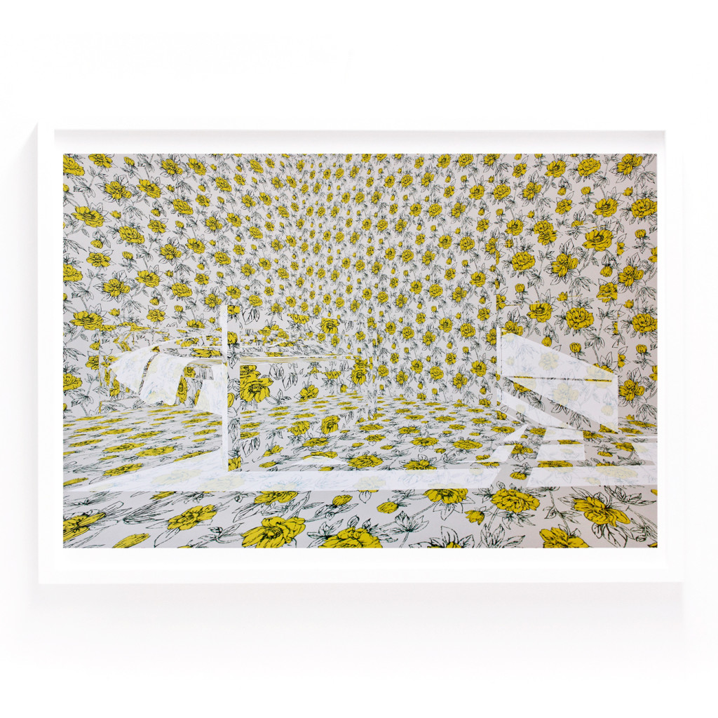 """The Yellow Wallpaper (bedroom)"", Jodie Goodnough, Archival Inkjet print on paper, 12""x18"", 2016"