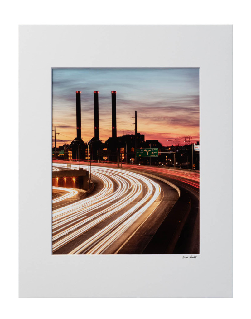 """Iway Sunset Light Trails"", Brian Lavall, Photograph on paper, 8""x11"", 2018"