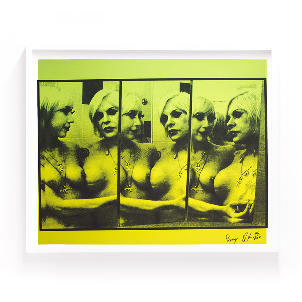 "Genesis Breyer P-Orridge, Silkscreen on paper, 24"" x 20.5"", Signed and stamped, edition of 200, 2014."