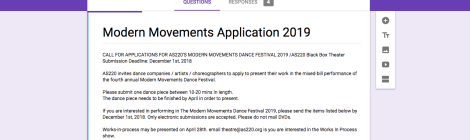 Applications open for Modern Movements Dance Festival 2019!