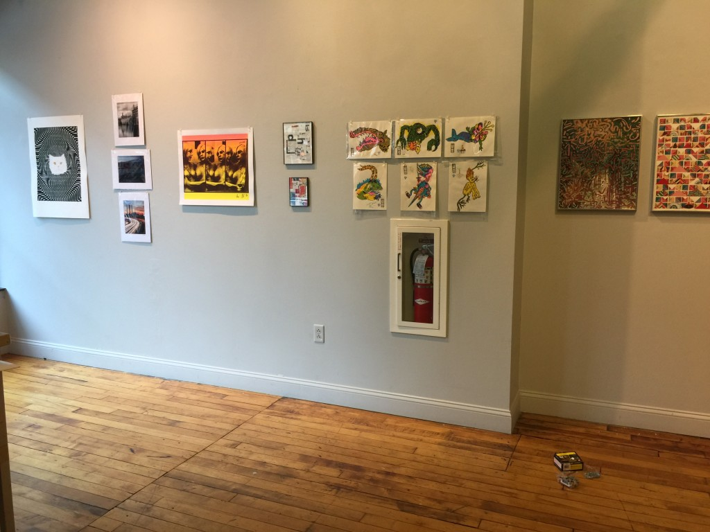 December Exhibit @ AS220 RES Gallery, Showcasing the AS220 Flat-File Project artworks