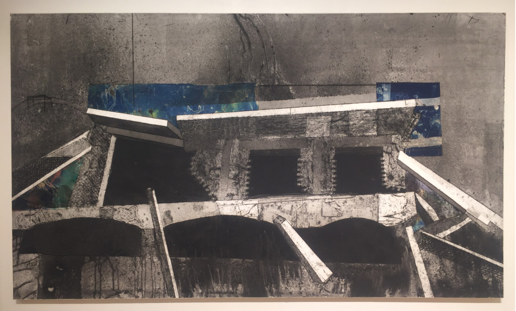 Peter Marcus - Roman Ruins, Collagraph, 2001, $8,500