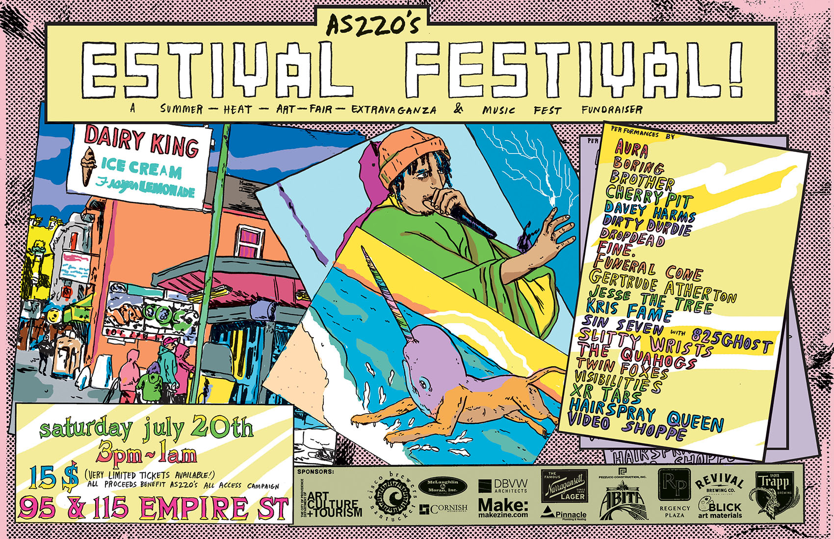 AS220's Estival Festival! @ 115 and 95 Empire Street