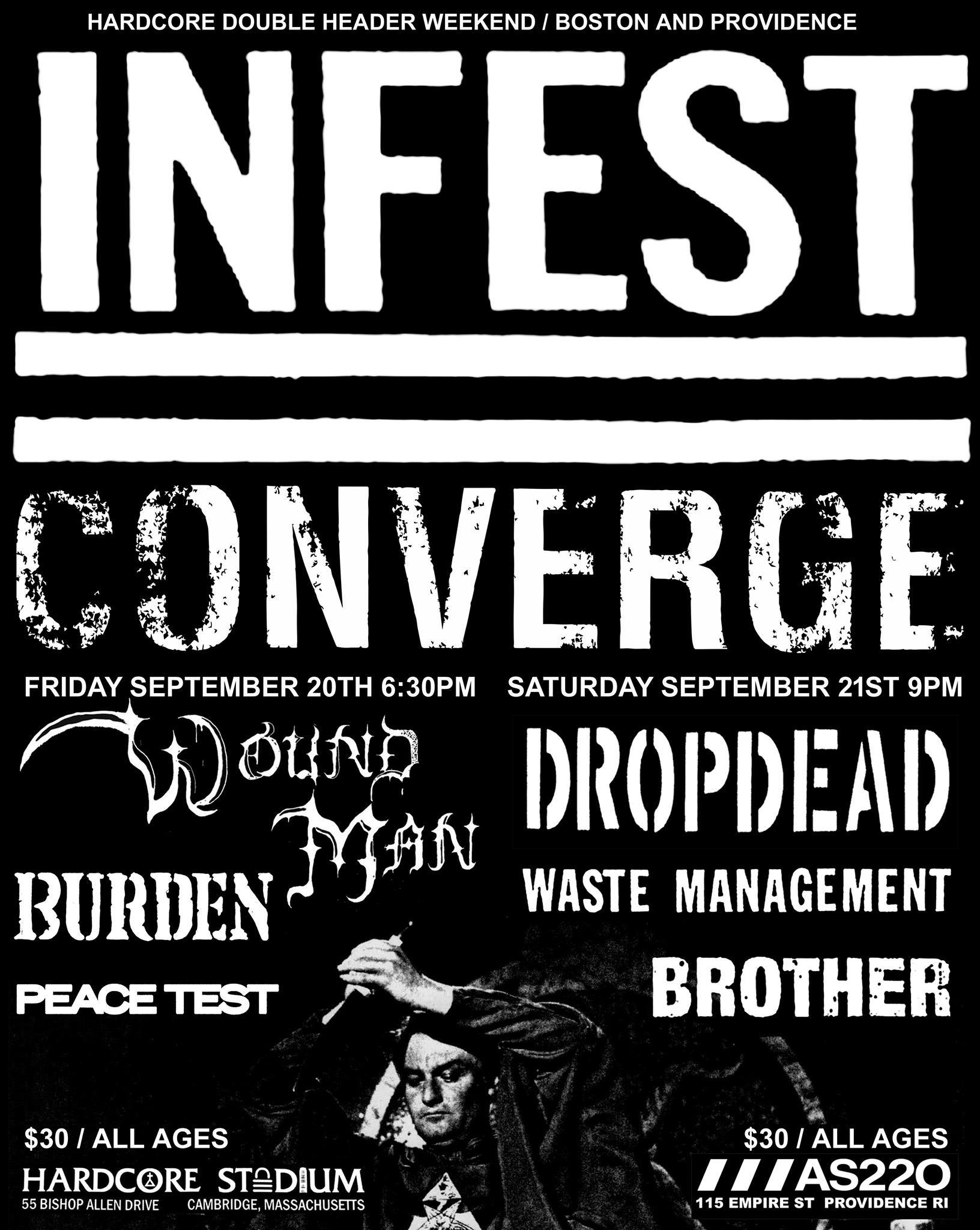 SOLD OUT: Armageddon Shop and Atomic Action Present: Infest / Converge / Dropdead / Waste Management / Brother @ AS220 Main Stage