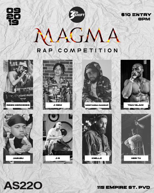 The 3rd Shift: Magma - Rap Competition @ AS220 Main Stage