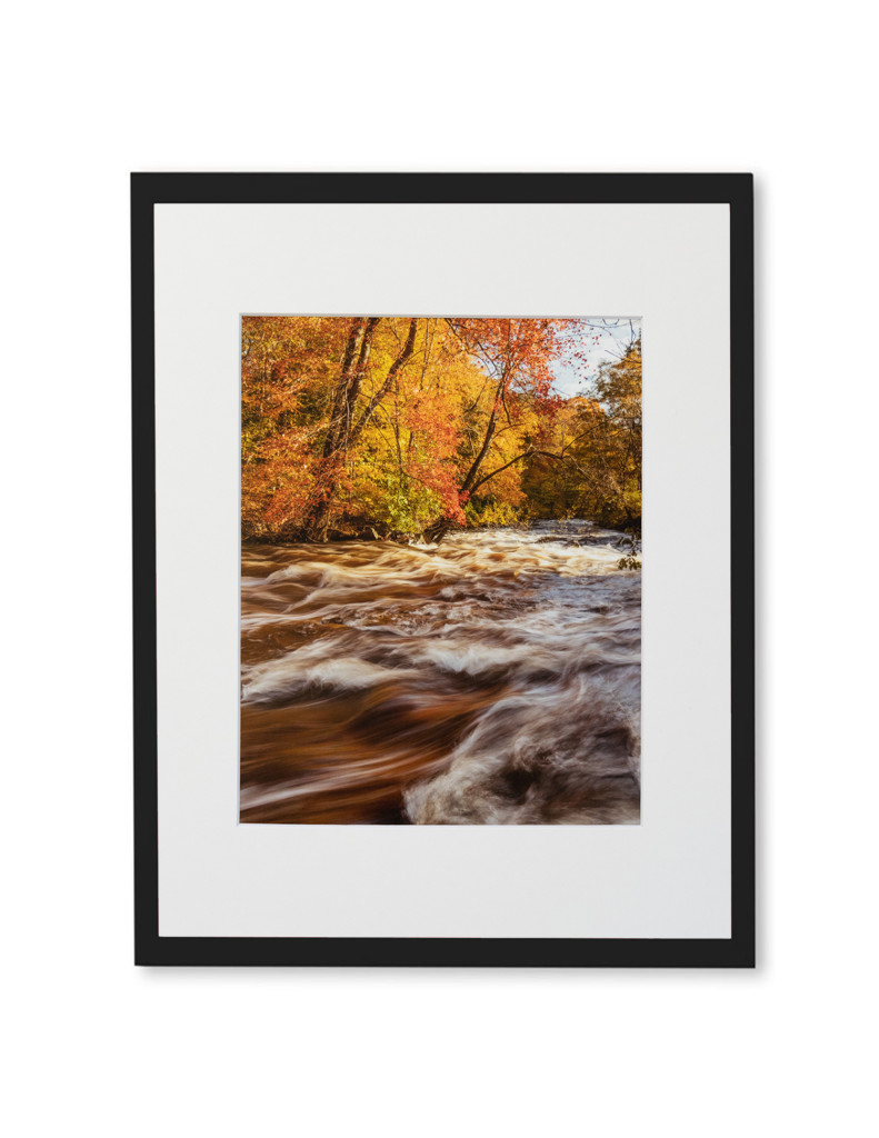 "Brian Lavall - Fall on the Ten Mile River, Photograph on lustre paper, Matted, 8 x 10"", 2018"