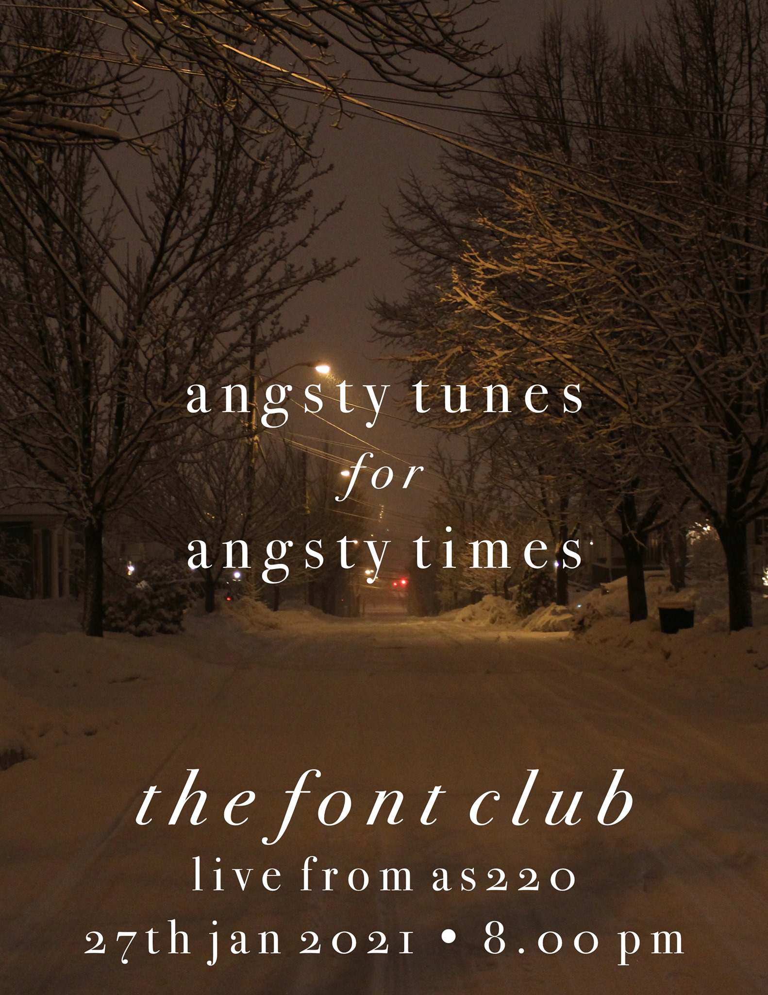 Angsty Tunes for Angsty Times - The Font Club Livestream