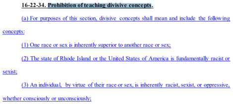 """Oppose H.6070: """"Prohibition of teaching divisive concepts"""""""
